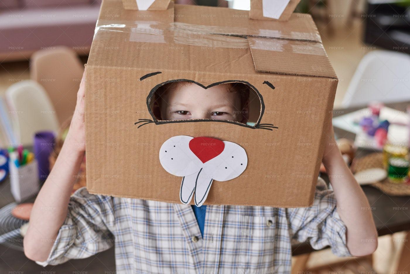 Boy In Rabbit Costume: Stock Photos