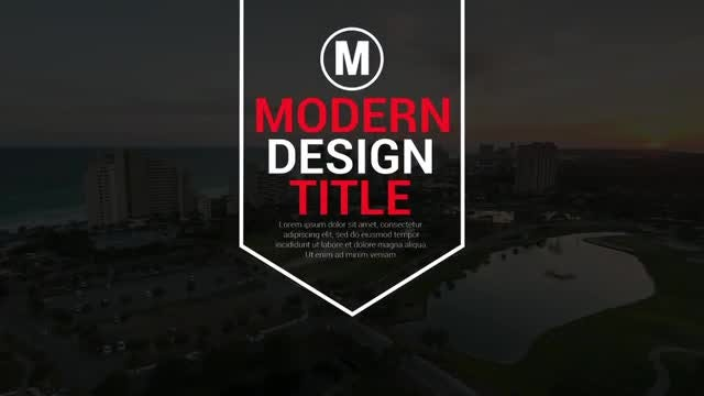Modern Big Titles: After Effects Templates
