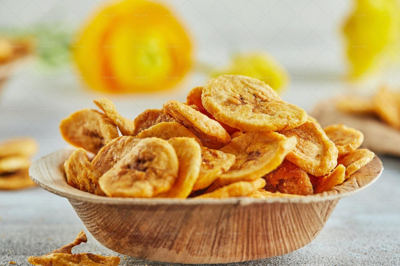 Banana Chips: Stock Photos