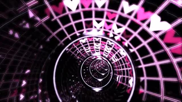 Infinite Hearts VJ tunnel: Stock Motion Graphics