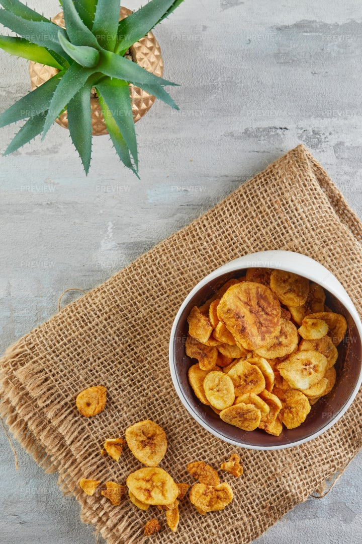 Dry Fruits And Healthy Chips: Stock Photos