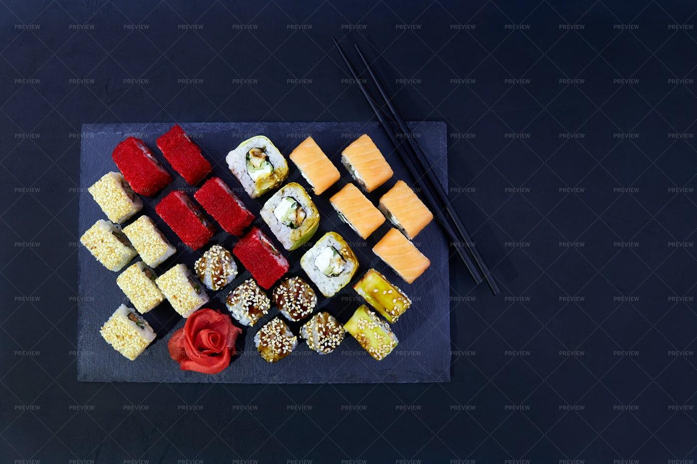 Big Sushi Set: Stock Photos