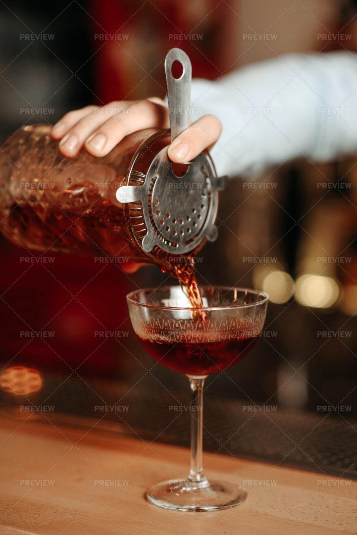 Making An Alcoholic Cocktail: Stock Photos