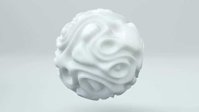 Liquid Sphere Fractal 3D: Stock Motion Graphics