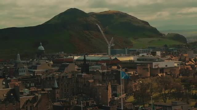 Holyrood Park And Arthurs Seat In Edinburgh: Stock Video