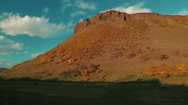 Arthur's Seat In Scotland, UK: Stock Video