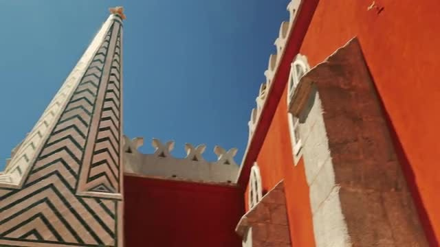 Pena Palace In Sintra, Portugal: Stock Video
