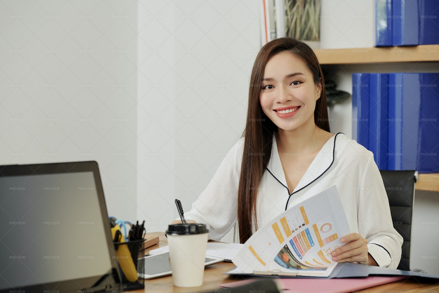 Working Female Project Manager: Stock Photos