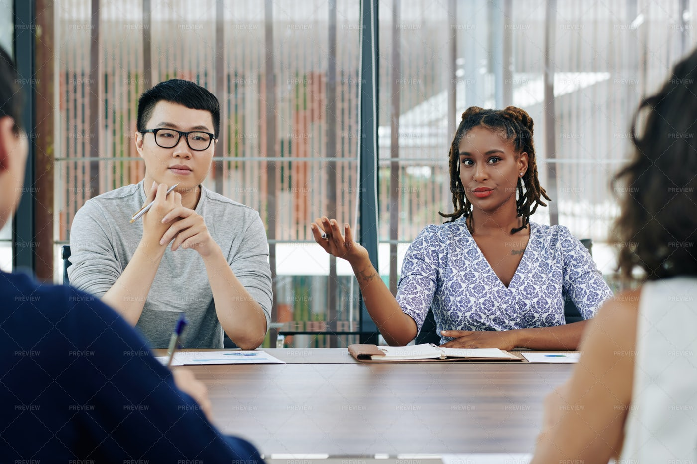 Business Lady Expressing Her Opinion: Stock Photos