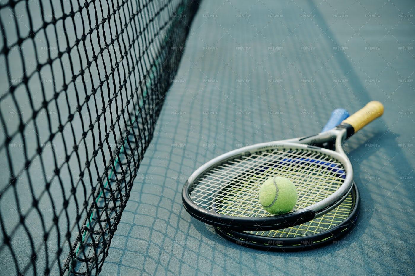 Rackets And Ball: Stock Photos