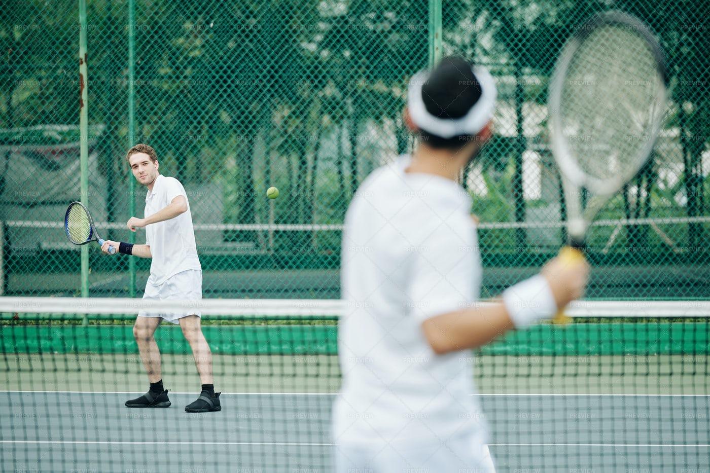 Tennis Game: Stock Photos