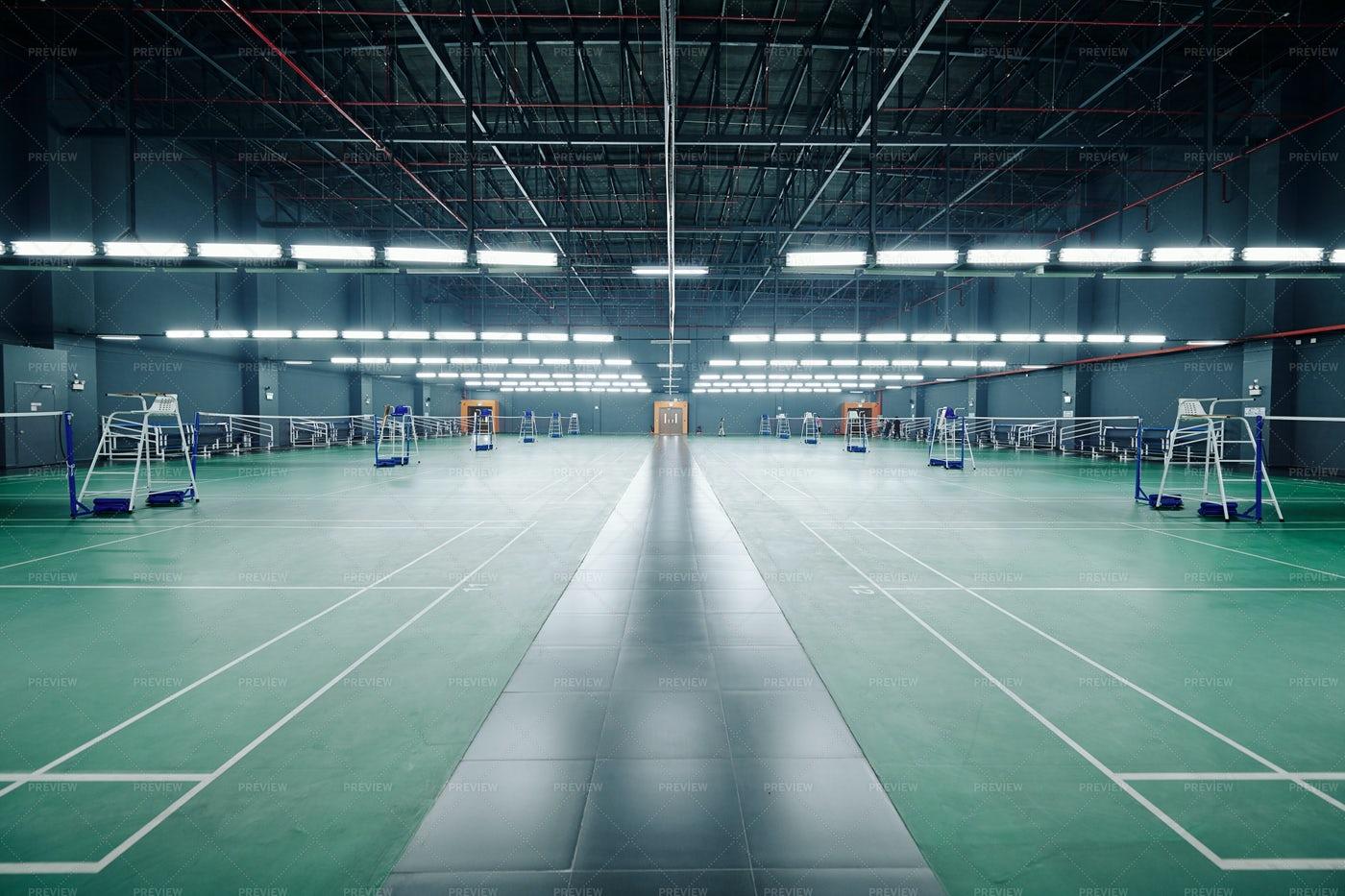 Empty Gymnasium With Courts: Stock Photos