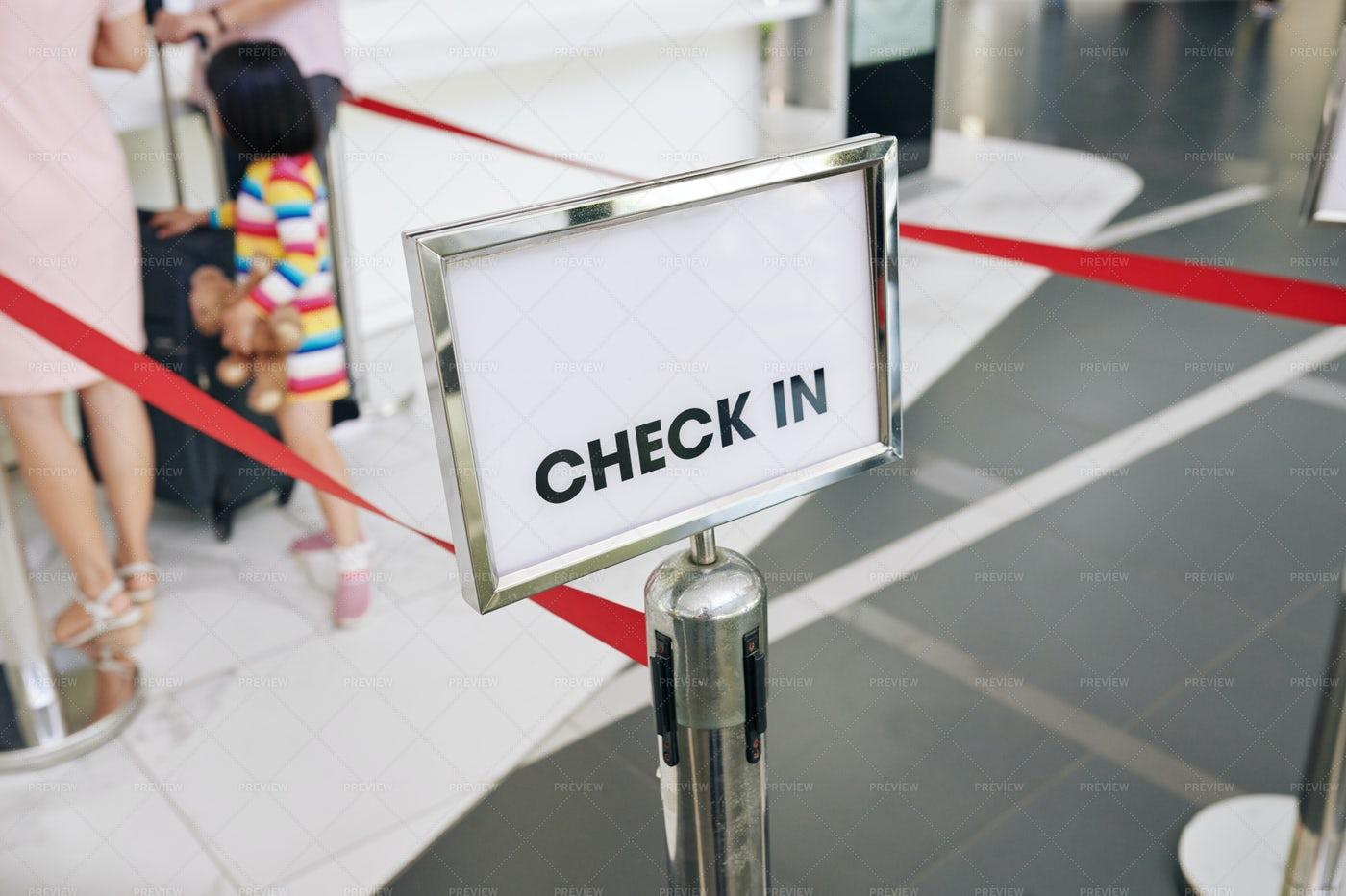 Check In Line: Stock Photos