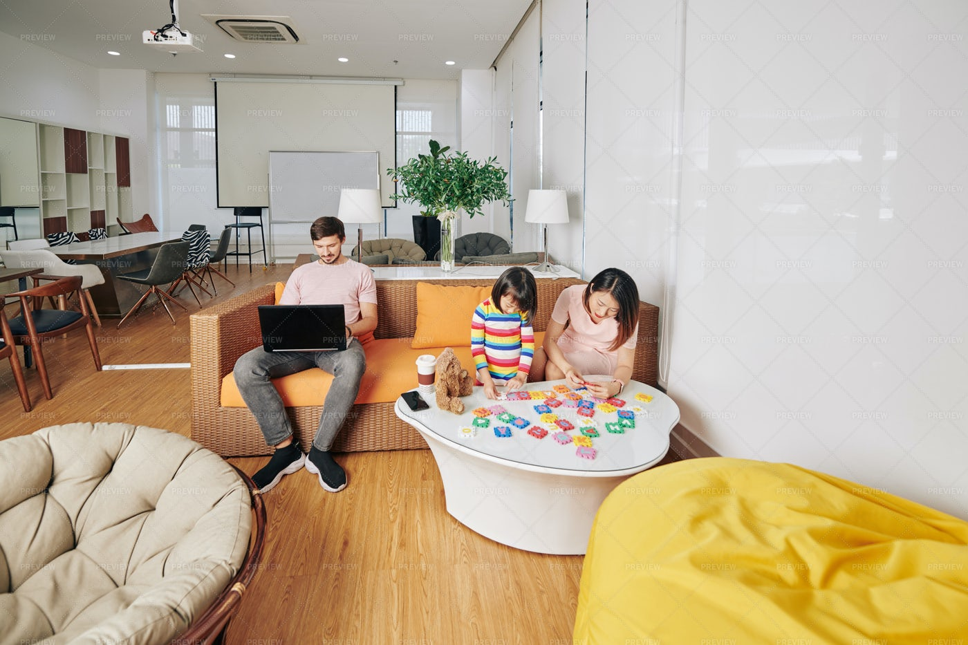 Family Spending Time At Home: Stock Photos