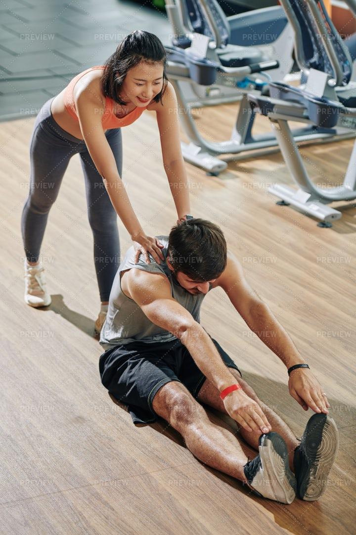 Exercising With Trainer: Stock Photos