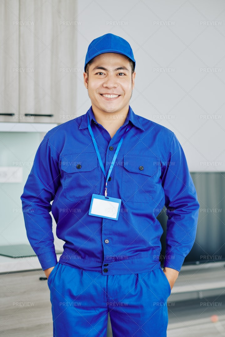 Confident Smiling Worker: Stock Photos