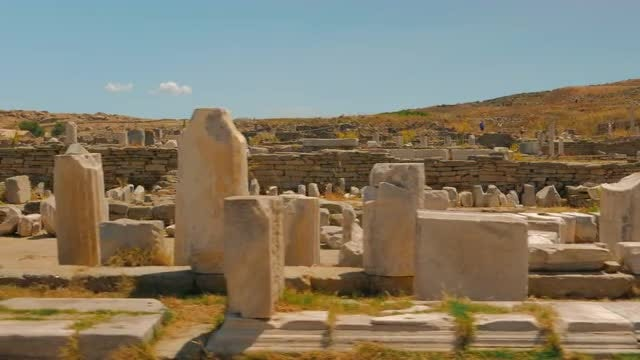Ancient Market in Delos: Stock Video