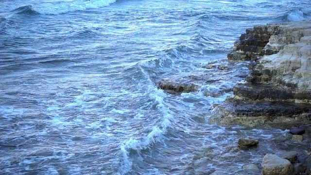 Blue Waves At Dawn: Stock Video