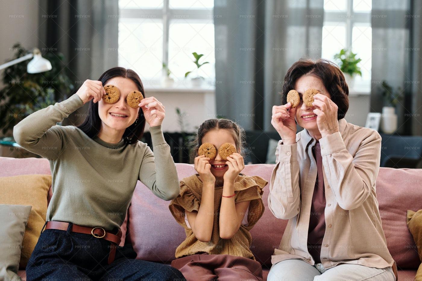 Three Generations Having Fun: Stock Photos