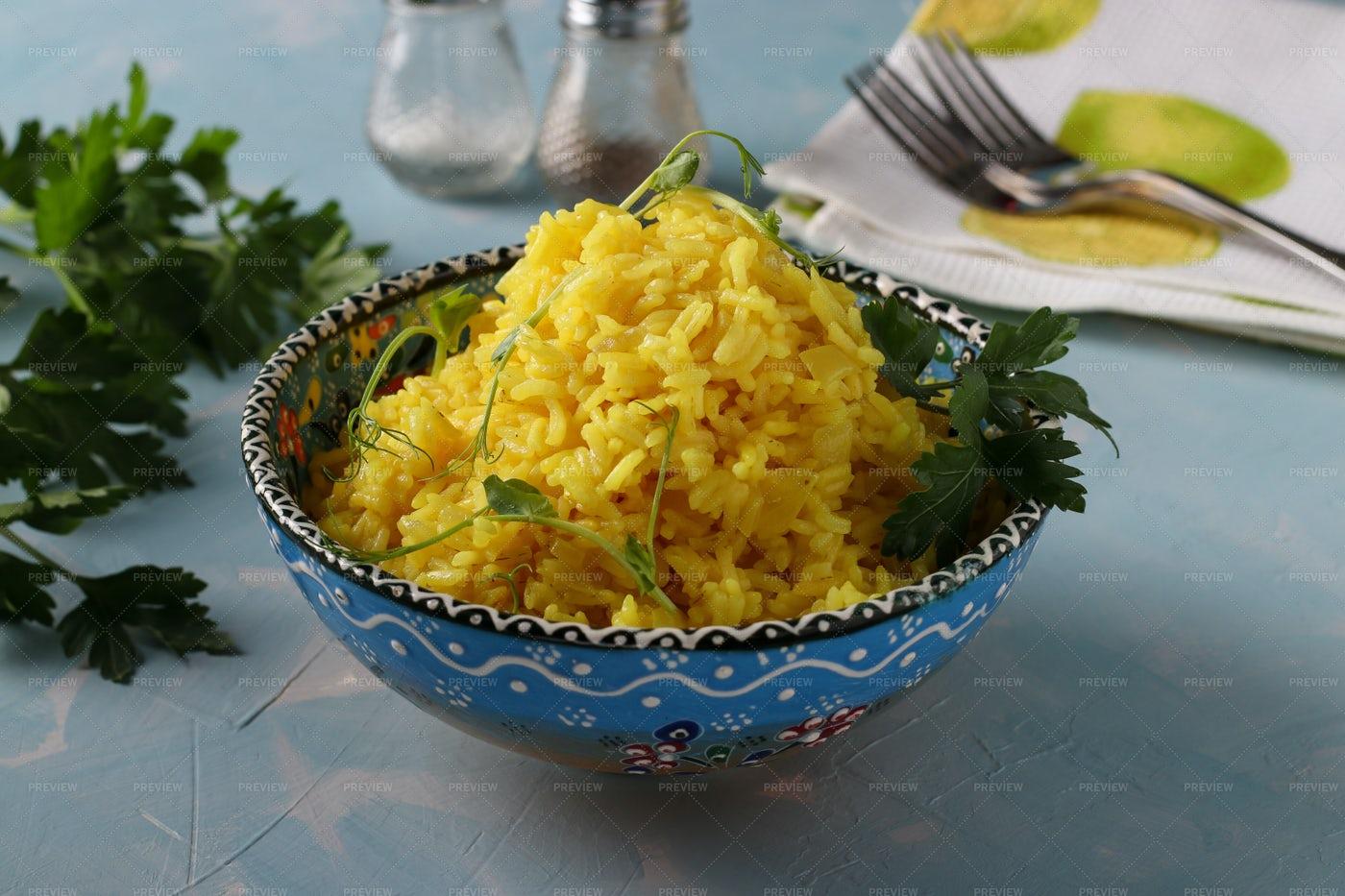 Turmeric Rice: Stock Photos