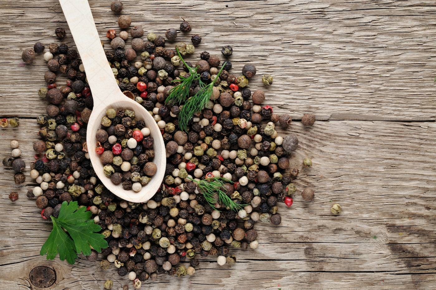 Pepper On Wooden Background: Stock Photos