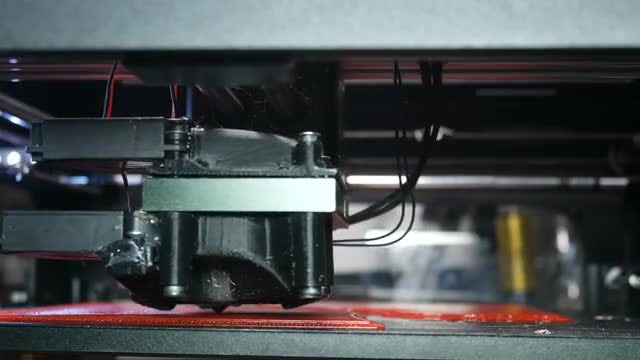 3D Printer Printing Plastic Unit: Stock Video