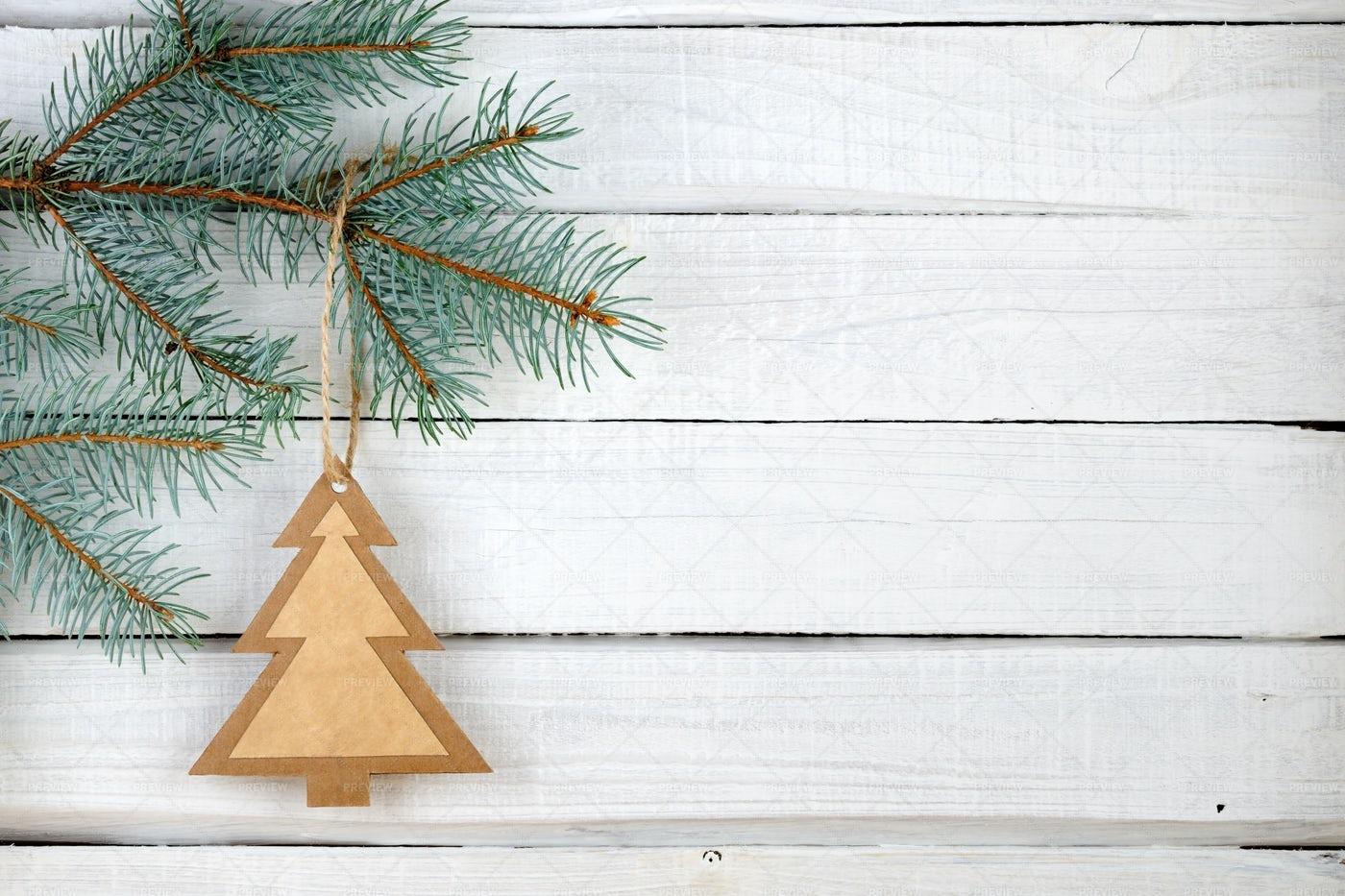 Hanged Paper Christmas Tree: Stock Photos