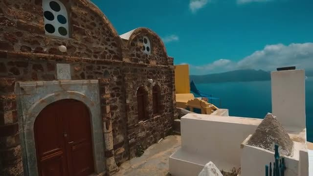 Traditional Greek Houses : Stock Video