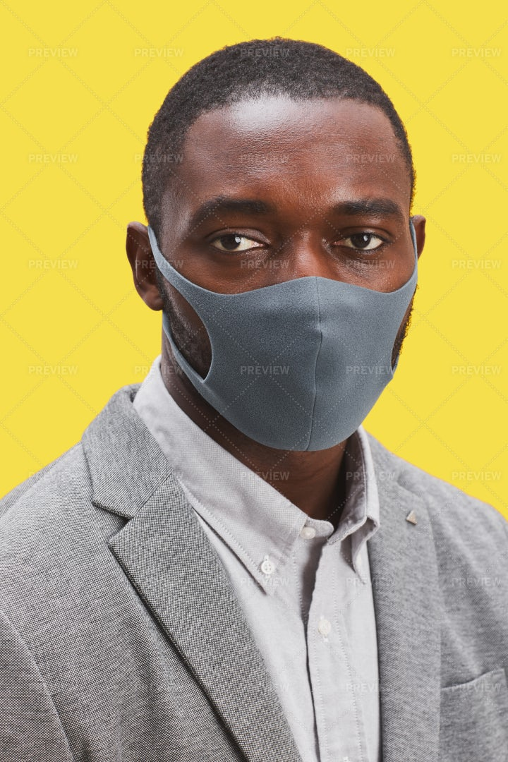 Businessman With Face Mask: Stock Photos