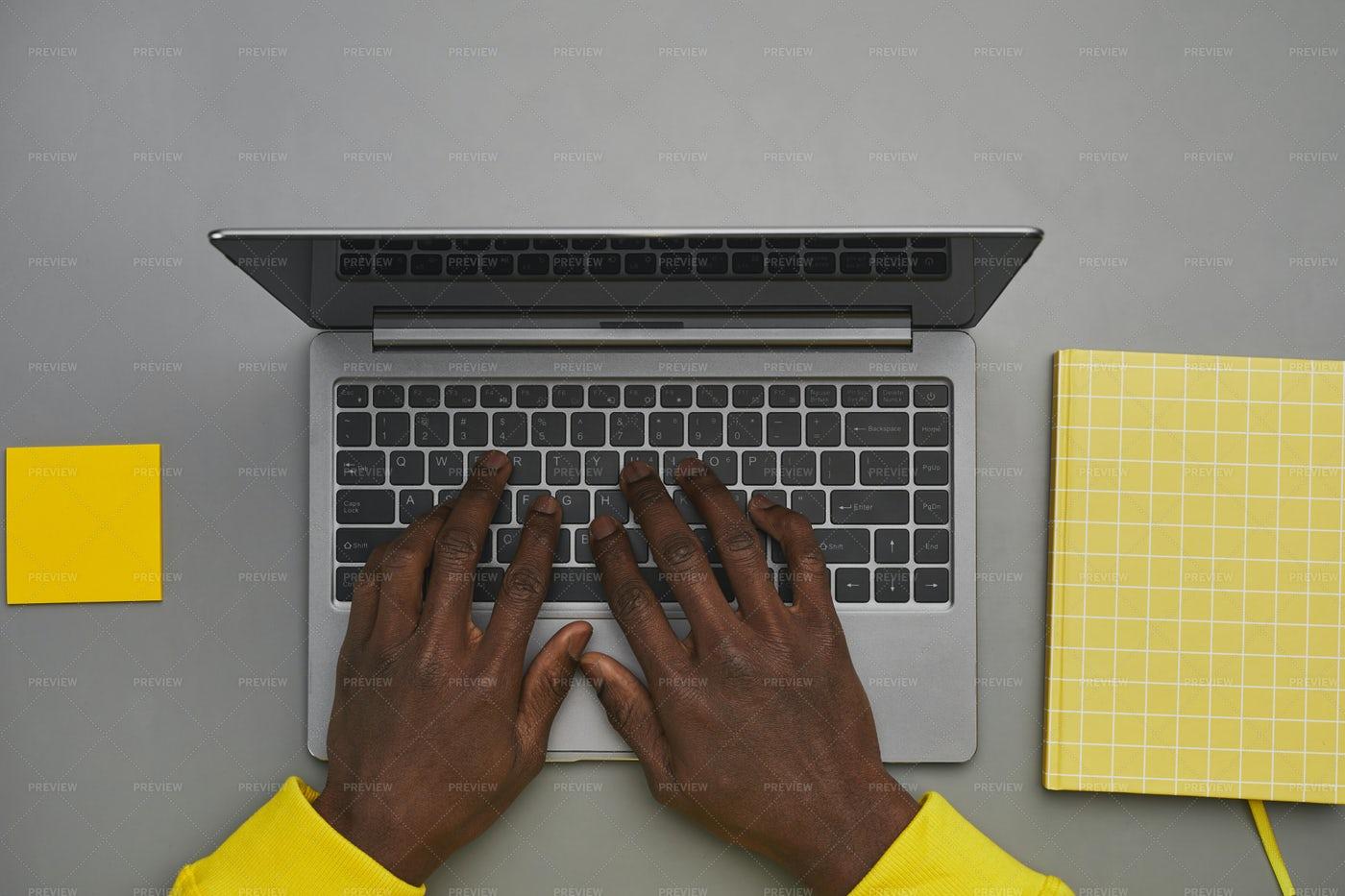 Man Typing At Laptop: Stock Photos