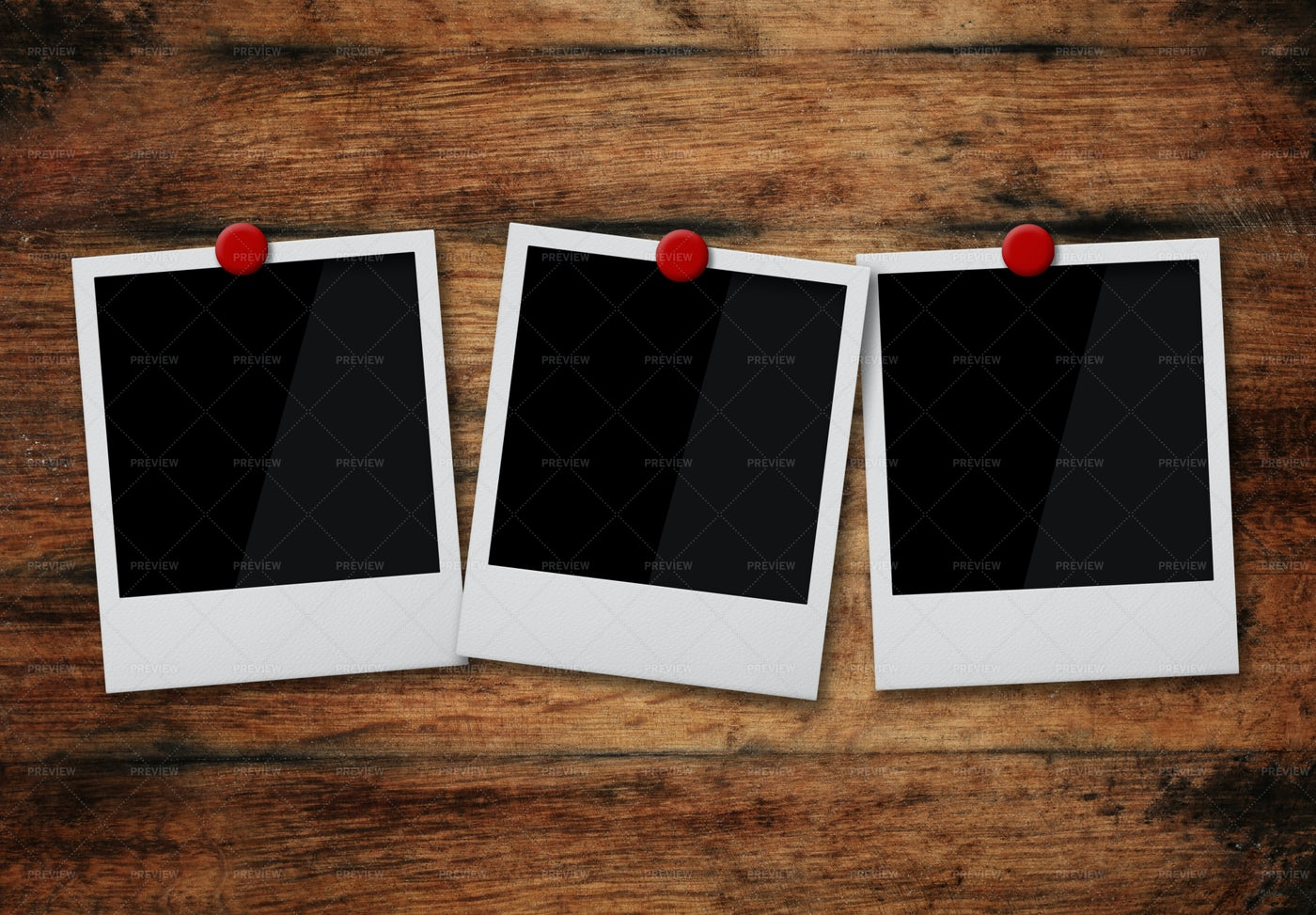 Instant Photo Frames Pinned: Stock Photos