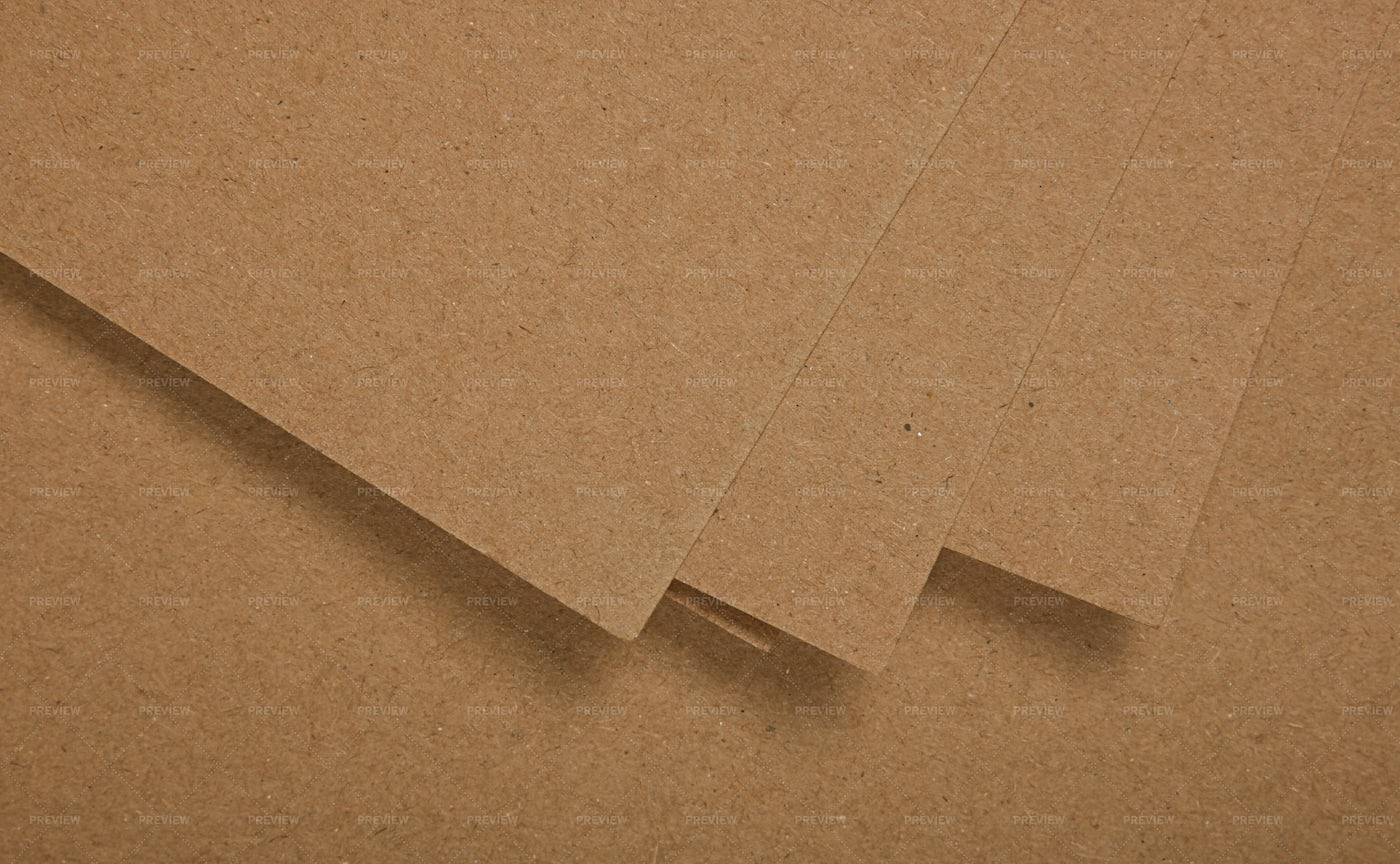 Several Sheets Of Brown Paper: Stock Photos