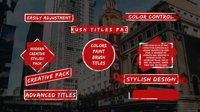 Modern Brush Titles: Motion Graphics Templates