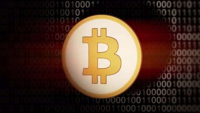 Spinning Bitcoin Animation: Stock Motion Graphics