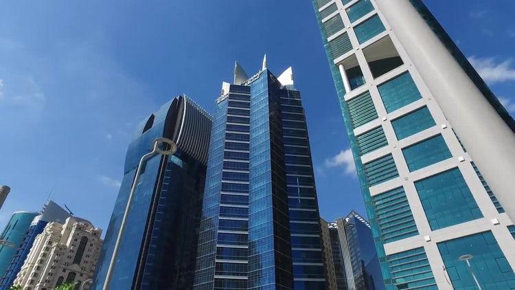POV Shot Of Modern Buildings: Stock Video