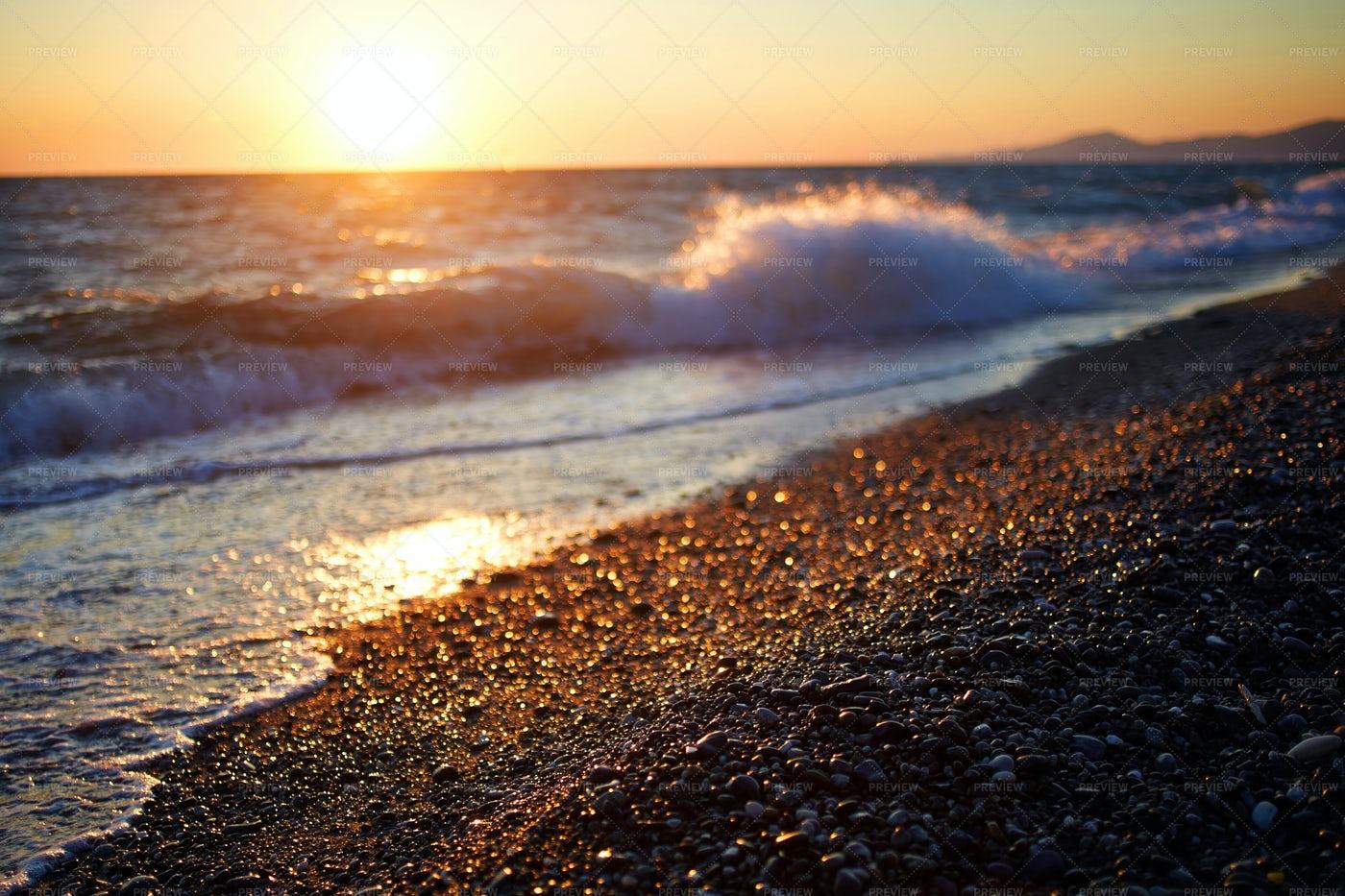 Beautiful Orange Sea Sunset: Stock Photos
