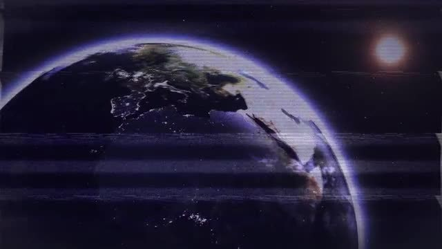 Lost Signal To Planet Earth: Stock Motion Graphics
