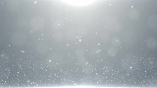 White Particles Rising Up Background: Stock Motion Graphics