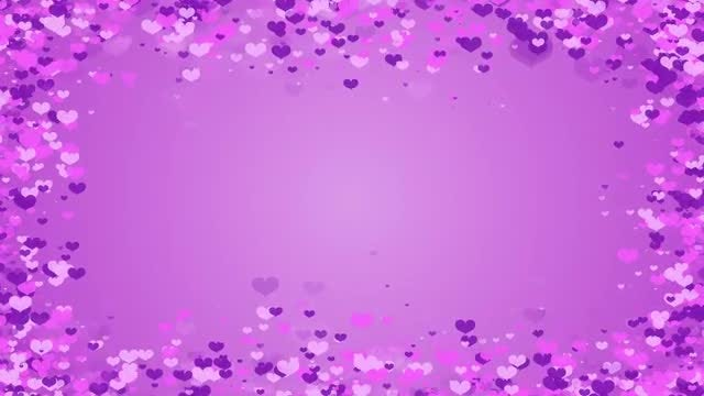 2 Hearts Frame Overlays: Stock Motion Graphics