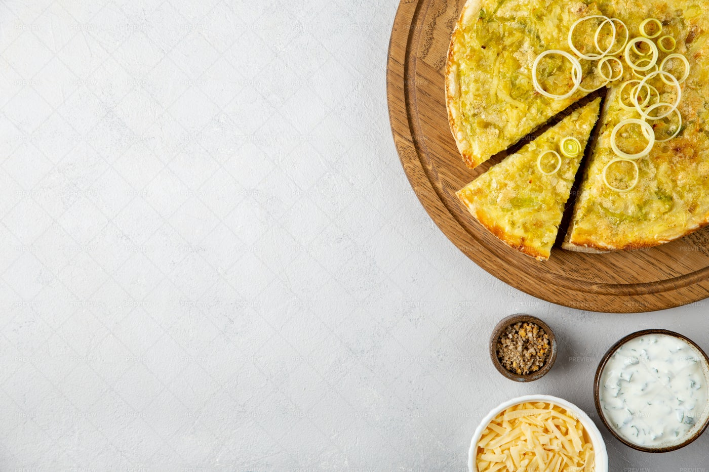 Quiche Pie With Leek: Stock Photos