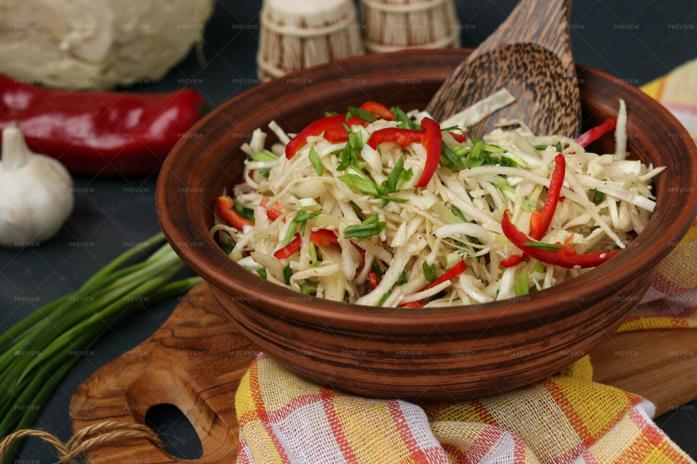Healthy Cabbage Salad: Stock Photos