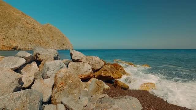 Akrotiri Beach, Santorini, Greece: Stock Video