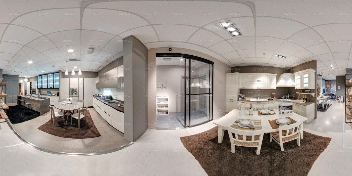 360 Panorama Of A Modern Kitchen: Stock Photos