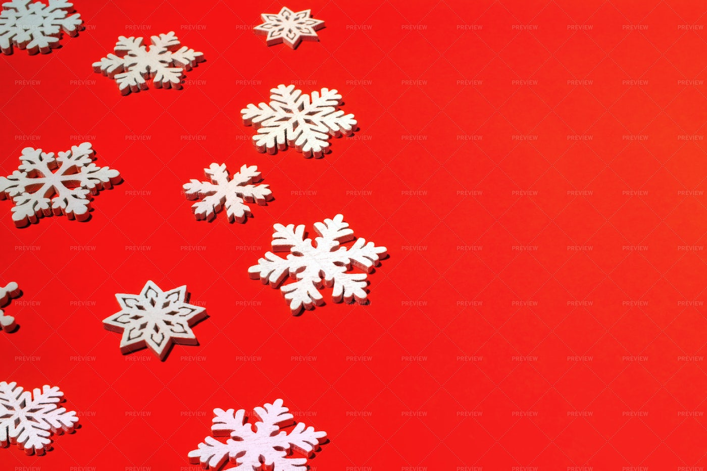 Festive Red Christmas Background.: Stock Photos