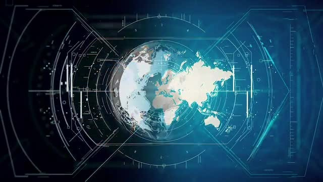 Hi-Tech HUD For Earth Pack: Stock Motion Graphics