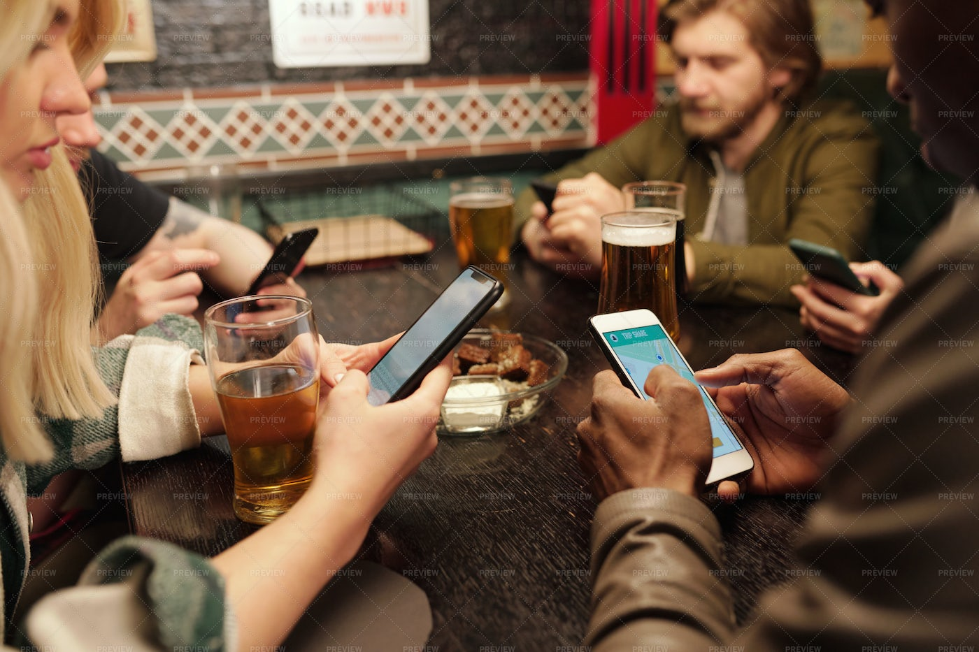 Young People Using Mobile Phones: Stock Photos