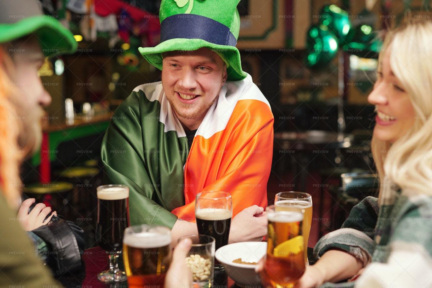 Patricks Day In The Irish Pub: Stock Photos