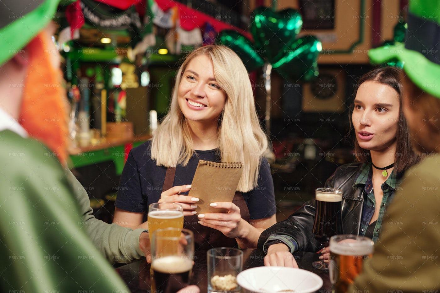 Celebration Of Patricks Day In The Pub: Stock Photos