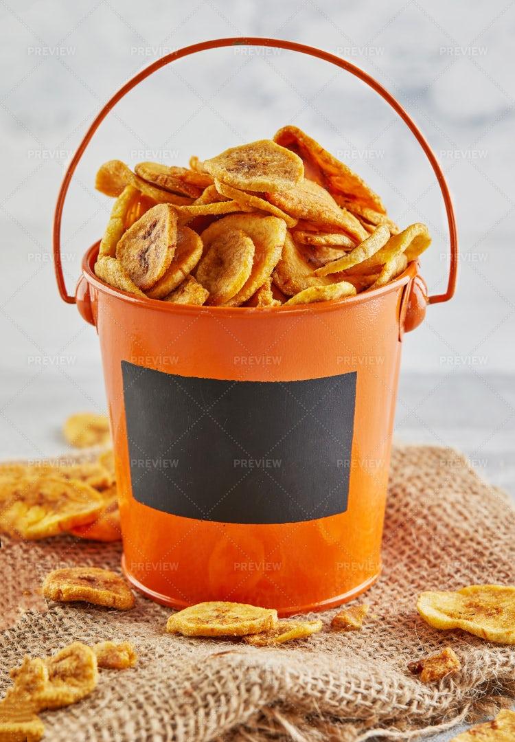 Banana Chips Healthy Food: Stock Photos