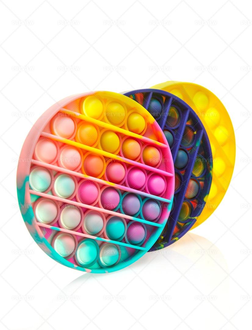 Colorful Push Pop Bubble Sensory: Stock Photos